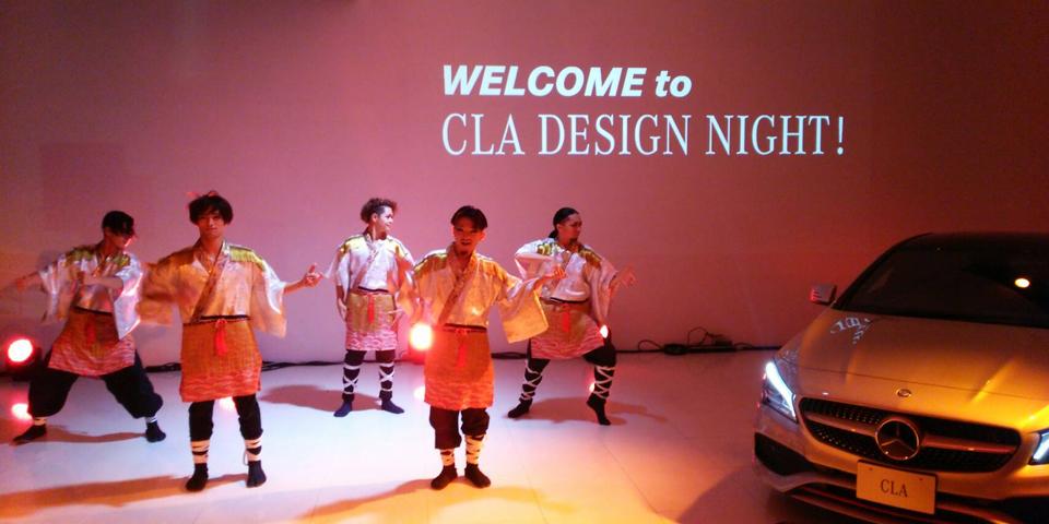 TRIQSTARがメルセデス・ベンツの新型CLAのプレスパーティーに登場