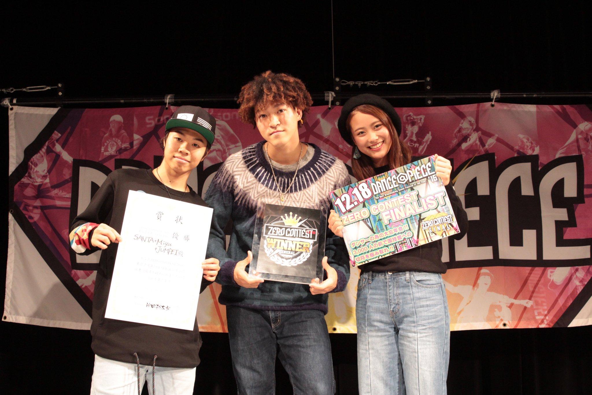SANTA+Miyu+JUMPEIがZERO CONTESTで圧巻のショーケースを披露!