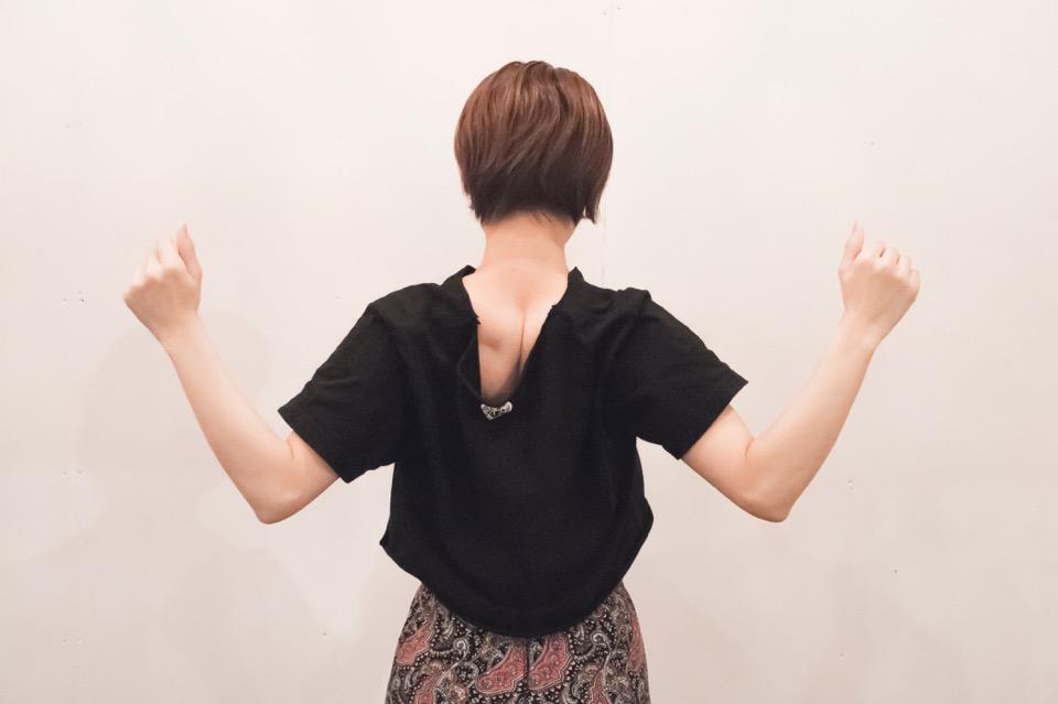 肩甲骨周りのストレッチ