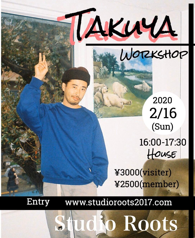 TAKUYA(SYMBOL-ISM)のワークショップが都立大studio Roots にて開催決定!